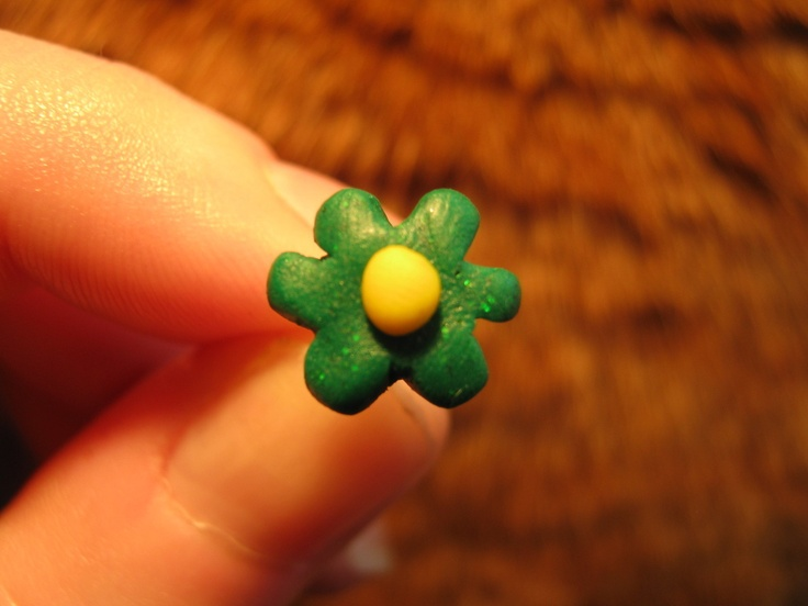 Simple And Quick Fimo Flower Earrings
