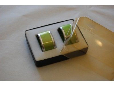 Emalox napkin rings green. www.hellans.no
