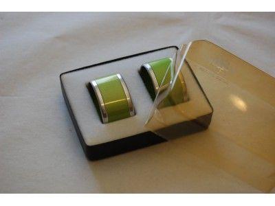Emalox napkin rings green. www.hellans.no