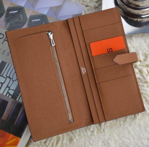 Hermes Bearn Wallet Brown