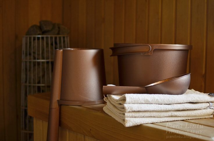 Orthex - copper coloured sauna products