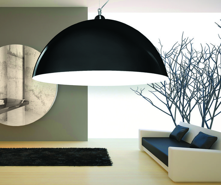 Modern lamps hemispheres: any RAL color. Sizes of diameter: 50, 70, 90, 120, 150, 200cm.