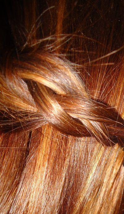cuivr avec un reflet acajou et de fines mches blonde - Coloration Acajou Cuivr