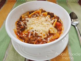 Quick Weeknight Lasagna Soup {Food Bloggers Against Hunger} – Kay Totty