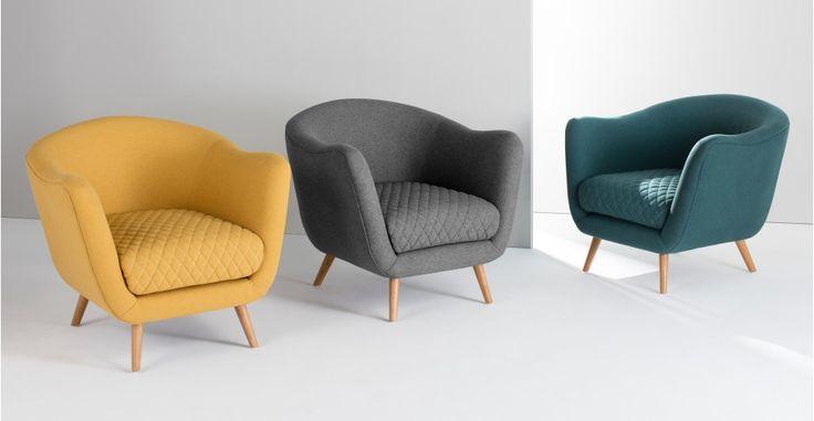 Flick accent stoel, mergelgrijs   made.com 349 euro
