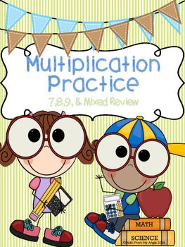 This+is+a+set+of++ready+to+go+printables+that+focus+on+multiplying+by+7,+8,+&+9.++Also+included+are+2+no+prep+mixed+multiplication+practice+sheets+in+a+multiplication+chart+format.++These+printables+are+great+for+students+needing+extra+practice+on+multiplication+facts.