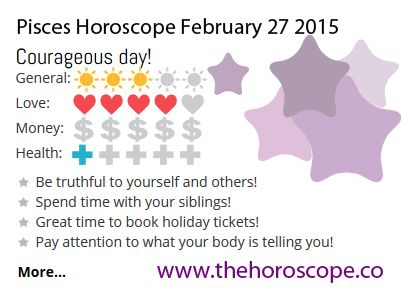 Courageous day for #Pisces on Feb 27th #horoscope ... http://www.thehoroscope.co/horoscope/Pisces-Horoscope-today-February-27-2015-2406.html