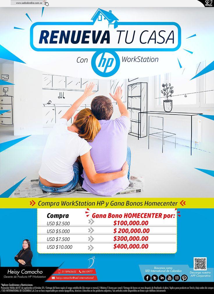 Renueva tu Casa con HP Workstation: Contacta a tu gerente de producto para más información: Heisy Camacho Celular: 310 773 8901 Email: heisy.camacho@sed.international #HP #SED #SEDCOLOMBIA