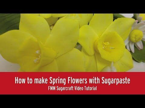 DIY flores Kanzashi de fondant with double flower petals fondant - YouTube