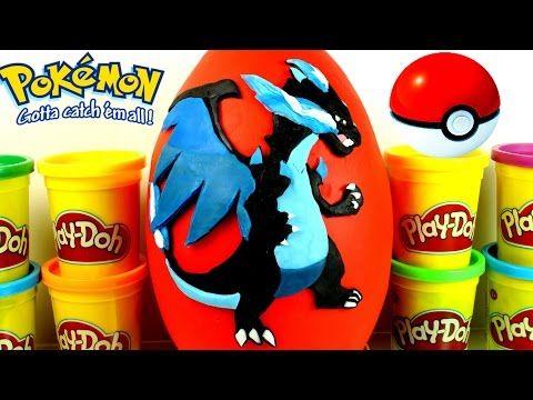 GIANT CHARIZARD Surprise Egg Play Doh - Pokemon Toys Lego Super Mario Minecraft - YouTube