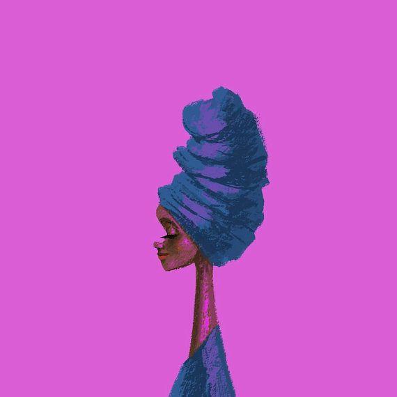 "Pinkish Girl, 5""X5"" Art Print"