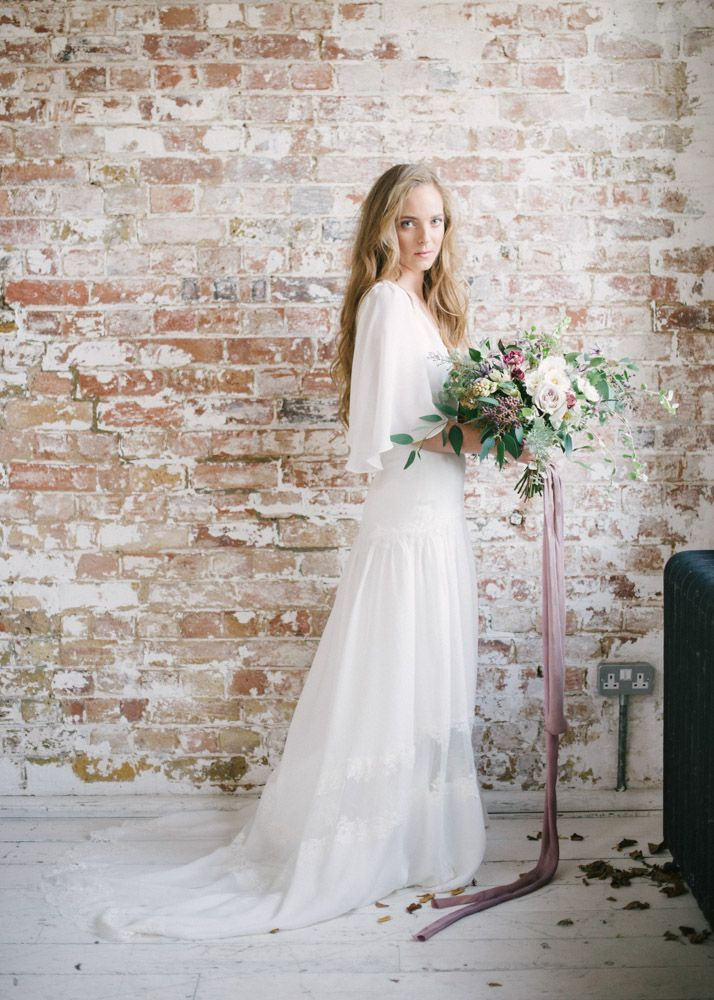 The Camille dress was a firm favourite on show @mostcuriouswedfair last weekend. Made with french silk and hand appliqued with french lace, it feels sublime to be worn but also relaxed and free.  Image captured by @hannahduffyphotography at the @planningredefined workshop. Styled by @thewstylist & @alwaysandriweddings.