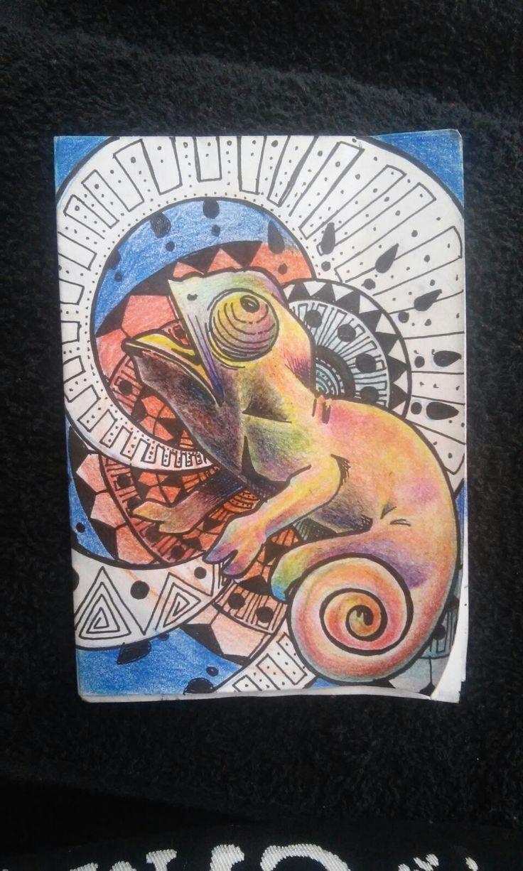 Camaleão #Metamorfose  #figArt  Tattoo Draw  Metamorfose.