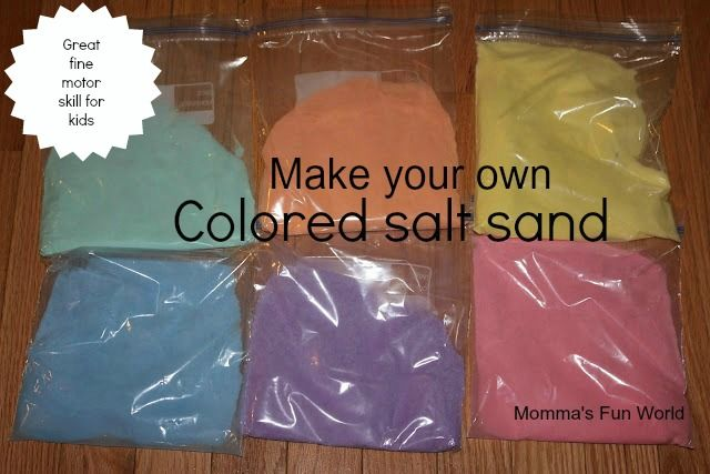 Momma's Fun World: Home made colored sand (buying it is expensive!)