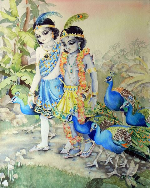 Krishna's brother, Balarama