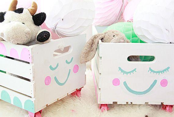 DIY Cajas para juguetes en Manualidades para decorar y detalles de decoración del hogar, fiestas y eventos