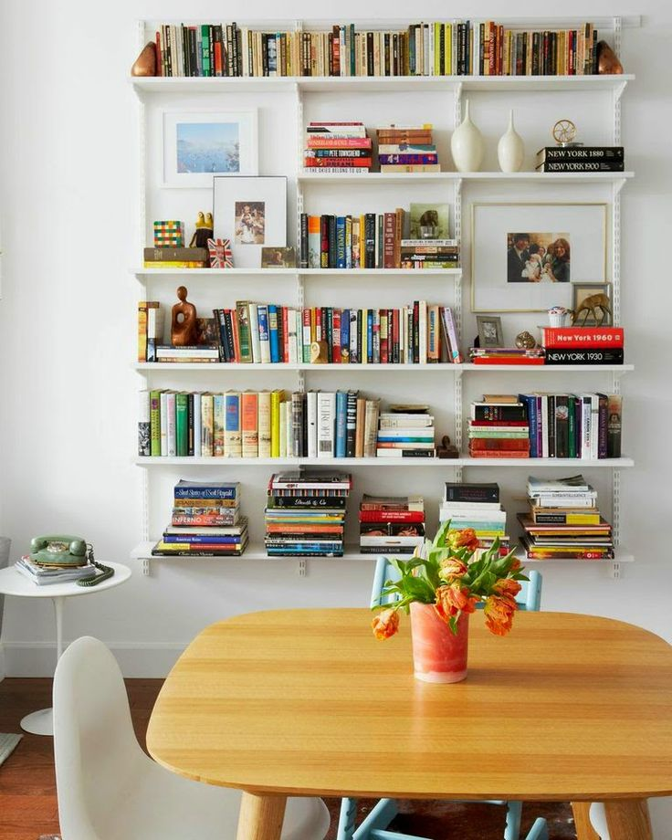 Our Brooklyn Apartment | A Cup of Jo - White Melamine Shelves from the Container Store