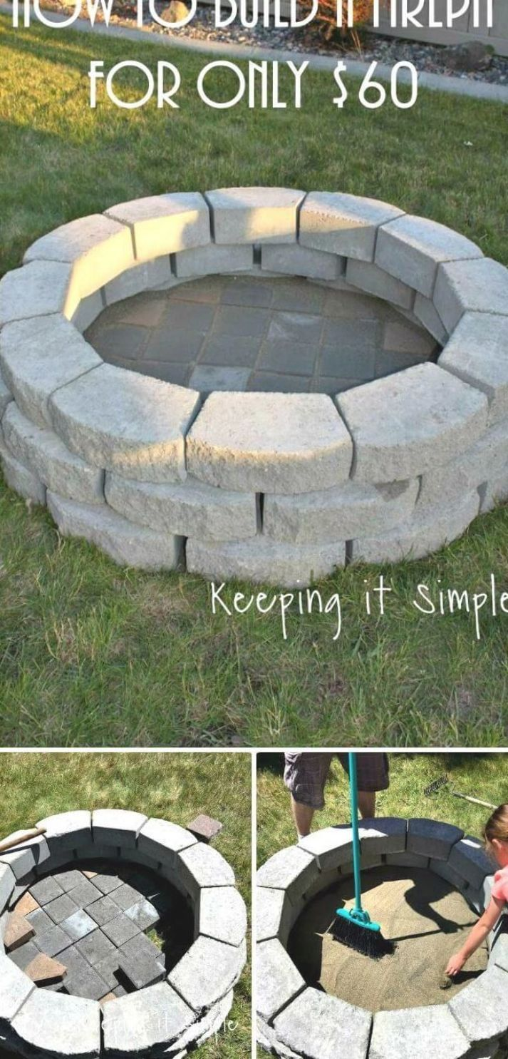 How To Build A Fire Pit For Only $60 - 62 Fire Pit Ideas ...