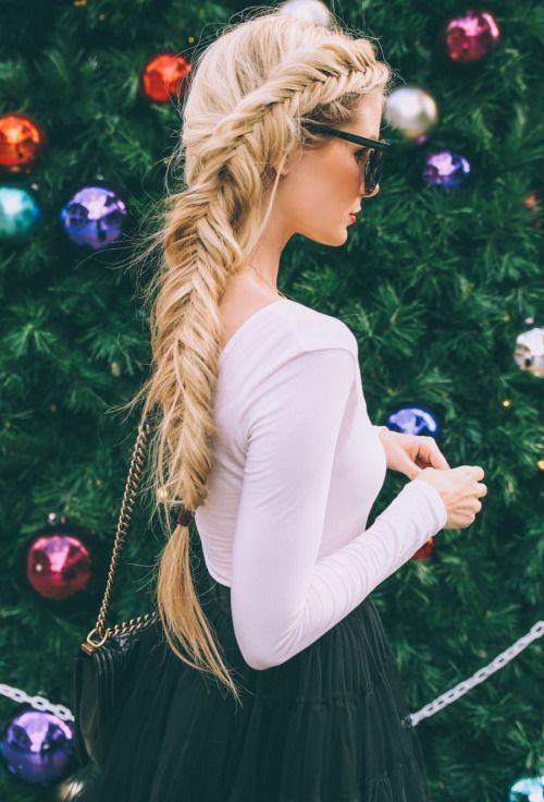 love this fishtail braid!