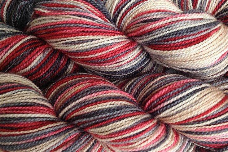 Fingering Weight Hand Painted Merino Wool Sock Yarn in Paper Love Red Beige Gray by eweandmeyarns on Etsy https://www.etsy.com/listing/161278106/fingering-weight-hand-painted-merino