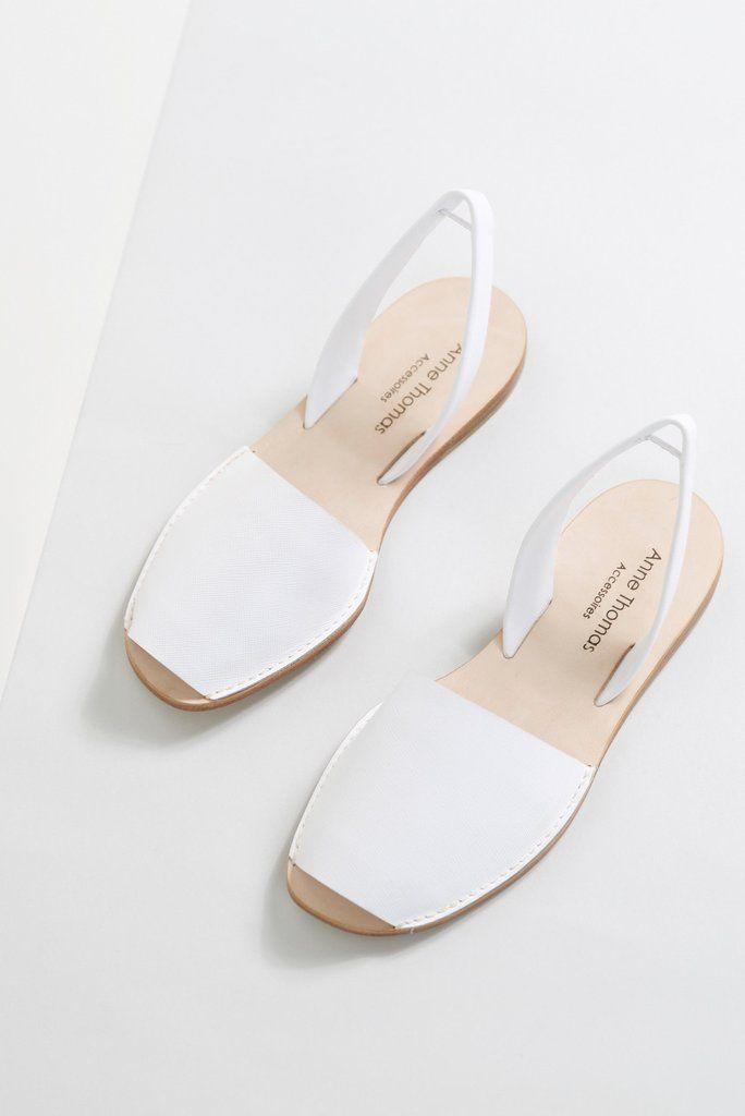 Eivisa Avarca Sandals White by Anne Thomas