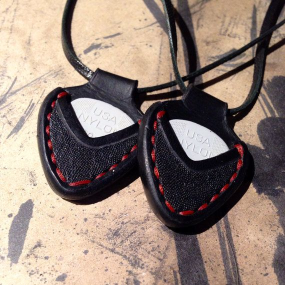 Guitar Pick Holder by BiteLeather on Etsy