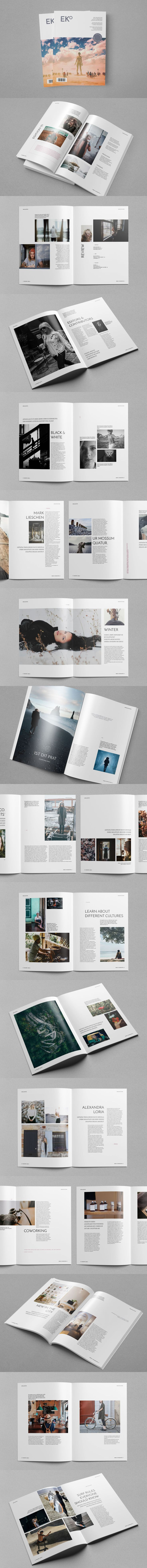 Eko Magazine is a stylish indesign template with 40 unique layouts suitable for publications about lifestyle, fashion, design, photography, travel…