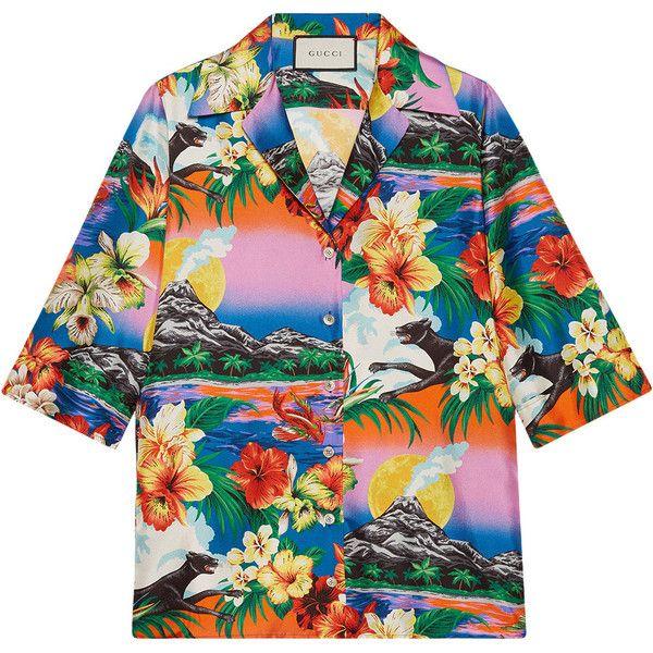 51f45fc98c12d Gucci Hawaiian print silk shirt (£1