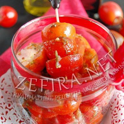 Быстрый рецепт маринованных помидоров черри — Кулинарные рецепты любящей жены