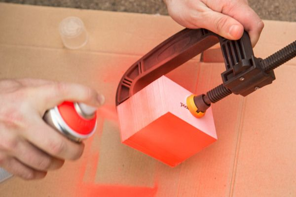 Make your own colored edge business cards with spray paint. So simple!!  Chris Wood - Branding on Behance