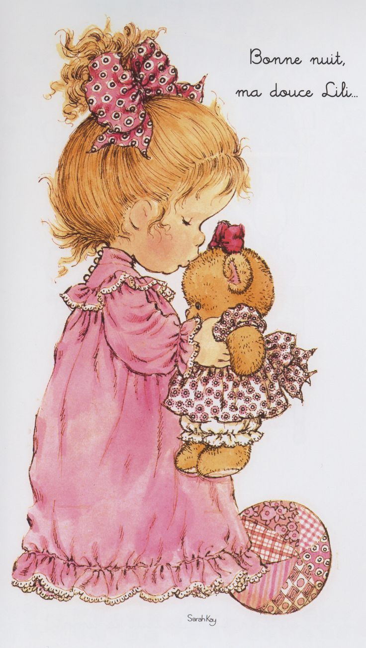 Sarah Kay - la fillette et le nounours | To share ... Holly Flower Drawing