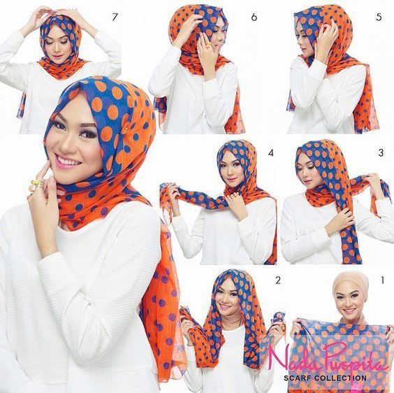 30 Modern Hijab Styles Step By Step Pictures For Muslim Women's in 2017 Hijab is a tradition a veil type of scarf wear by ladies in muslim countries specially in front of non-maharam males or…