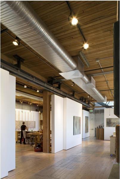 hallways-loft-spaces-work-studios-light-wood-art-decoration-ceiling-lights-wood-floors