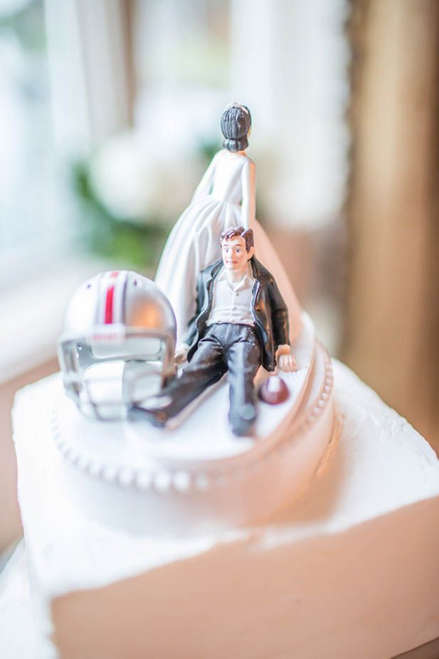 Great Football Superfan Cake Topper Gray WeddingsThemed