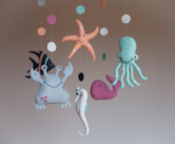 Nursery Mobile-Baby Mobile-Babys mobile-Sea Creatures by SpringHop