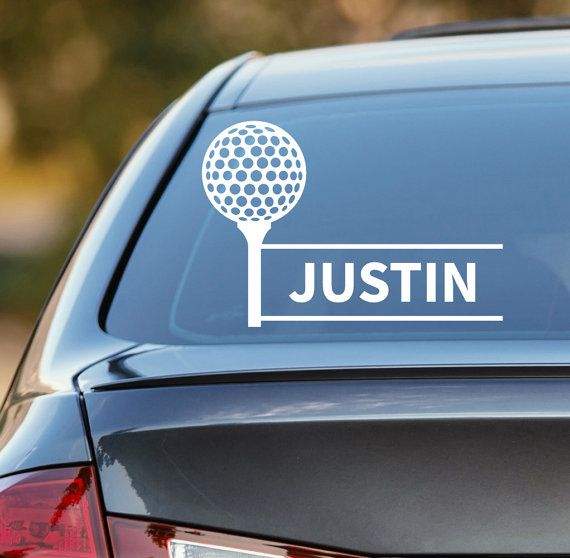 Golf decal personalized golf decal golf car decal custom golf decal golf player decal golf sticker golfing decal laptop sticker