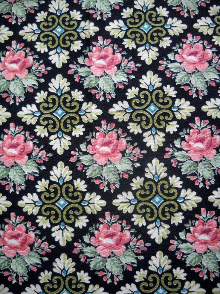 Vintage+Fabric+Fabulous+Floral+Design+24+X+24+by+SparkleBettie,+$10.00