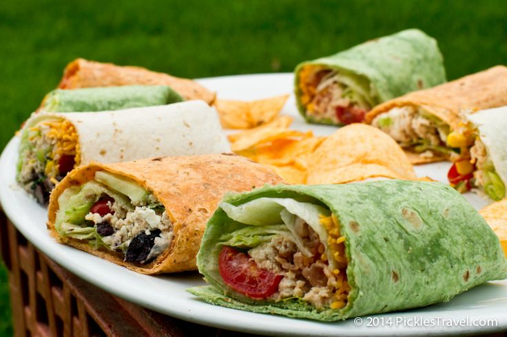 Host an amazing Memorial Day Backyard Picnic party with these 5 chicken wrap sandwich recipes- simple and delicious without breaking the bank! | Visit www.picklestravel.com for more picnic ideas