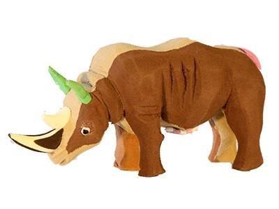 "Meet Kifaru. ""Kifaru"" means rhino in Swahili. He was handmade in Kenya from thongs (also known as flip flops) that are thrown away, end up in the ocean and wash"