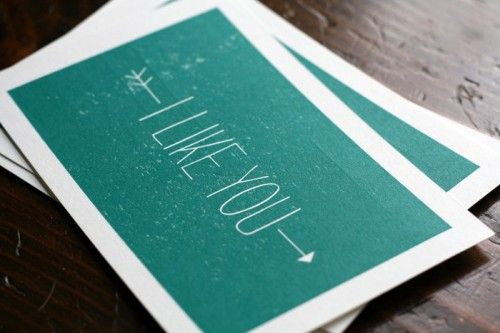 .: Letterpresses Cards, Cute Cards, Sweet, Handwritten Fonts, Cool Fonts, Cards Birthday Ideas, Love Cards, I Like You, Cardsbirthday Ideas