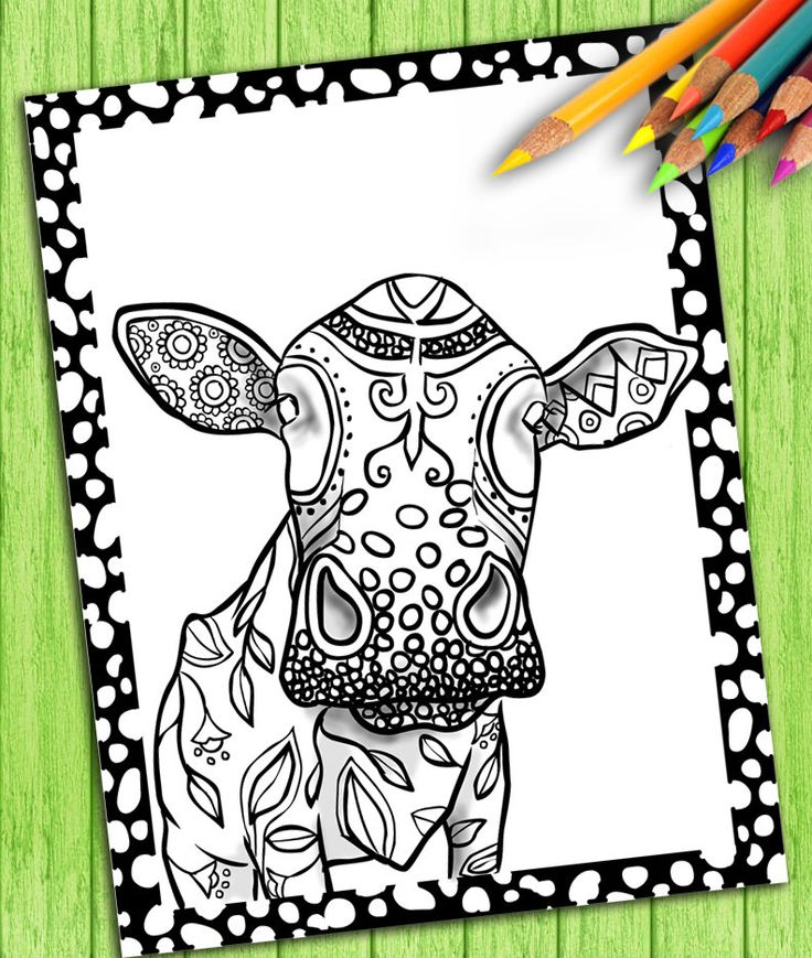 Adult Coloring Book Page From For Adults Animals Colouring Download
