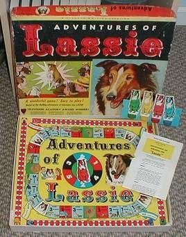 Vintage board game . Lassie.old