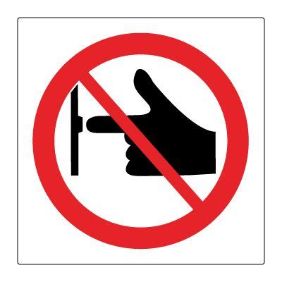 Må ikke startes/stoppes - Kjøp Forbudsskilt her