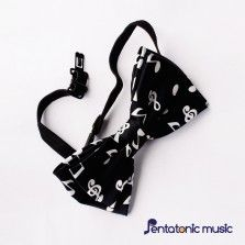 Black Musical Bow Tie