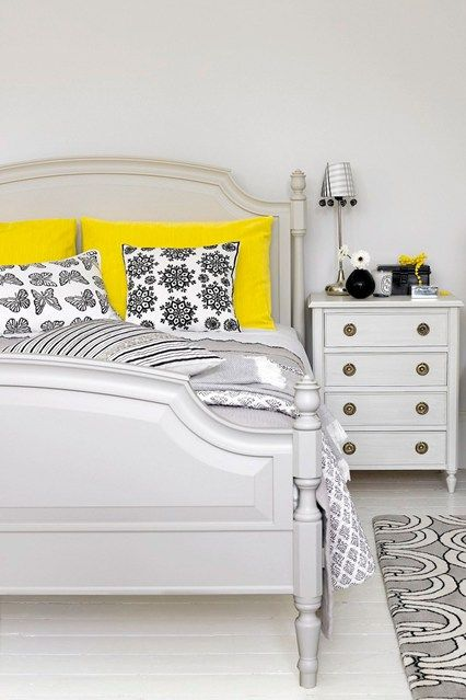 Best 25 yellow bedrooms ideas on pinterest spare for Black and yellow bedroom designs