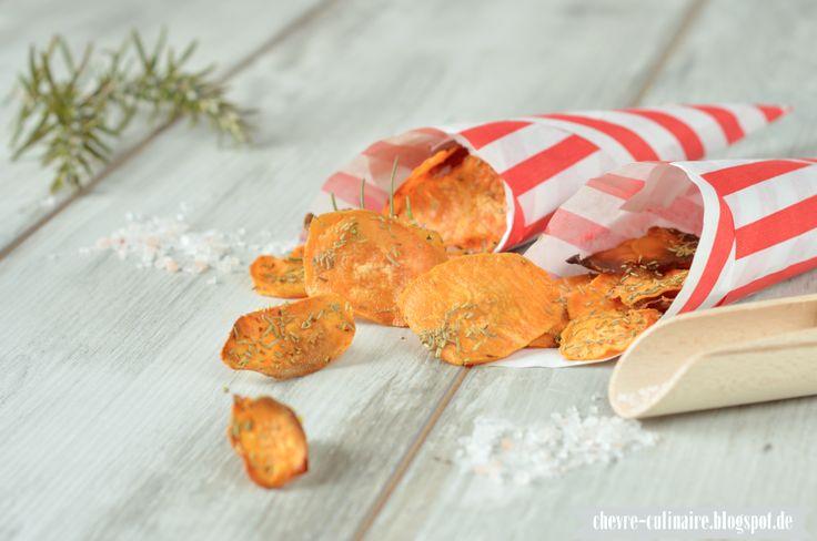 Chèvre culinaire: [Rezept] Süßkartoffelchips mit Meersalz & Rosmarin - noch ein gesunder lowcarb Snack + GIVE AWAY GEWINNERIN