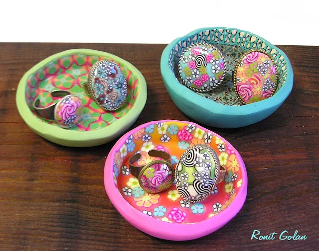 From Cookie Pan to Ring Dish | Polymer clay ideas | Pinterest
