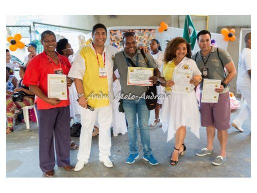 Meu 1º prêmio e homenagem do carnaval carioca, festa Escola Mestre Manoel Dionísio 2016. Foto: Equipe de imprensa site Samba Conexão News.