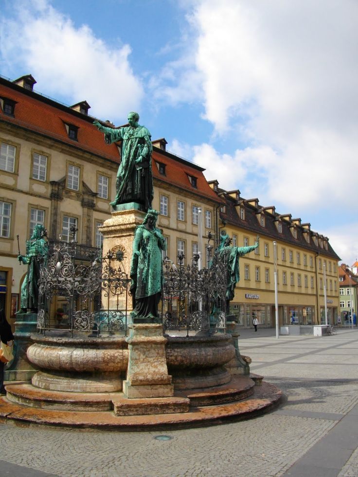 Downtown Bamberg, Germany!  Next to all the shopping places!! =)   Been there & wanna go back!