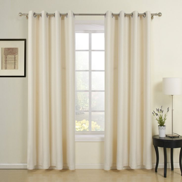 Classic Beige Jacquard Energy Saving Curtain   #curtains #decor #homedecor #homeinterior #beige